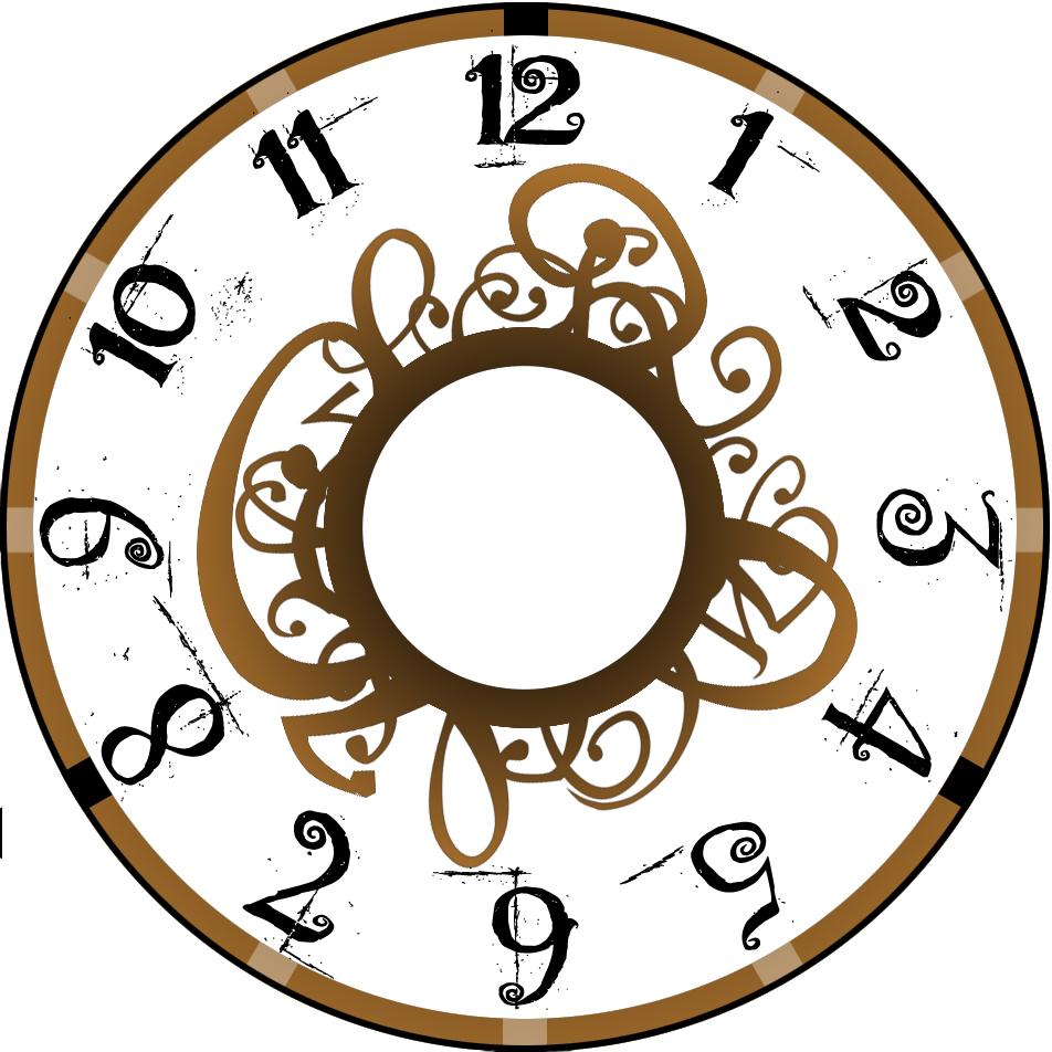 952x952 Antique Clock Face Clip Art