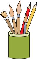 127x200 Free Art Supplies Clipart
