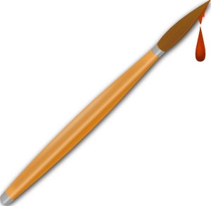 300x293 Paint Brush Drops Clip Art Free Vector 4vector