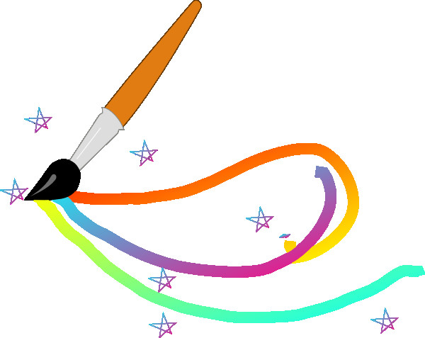 600x477 Art Paint Brush Clipart Magic Paintbrush Clip Art