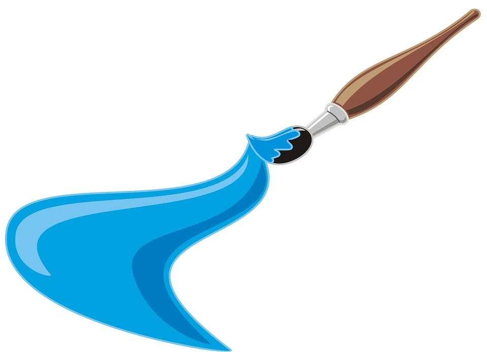 960x695 Artist Paint Brush Clip Art
