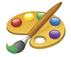 236x190 Elementary School Clip Art Paint Palette Clip Art Illustration