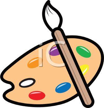 335x350 Clipart Paint Brush