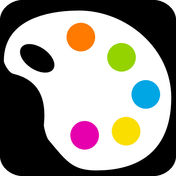 600x600 Art Palette Clipart Artists Color Palette With Colors And Paint