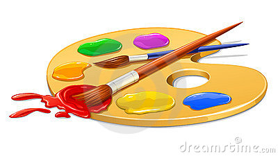 400x225 Real Paint Brushes And Palette