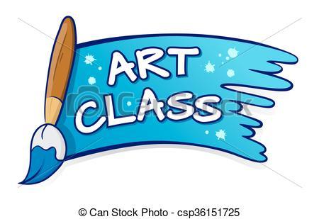 450x309 Art Class Clip Art Art Class Sign With Paint Brush Splatter Vector