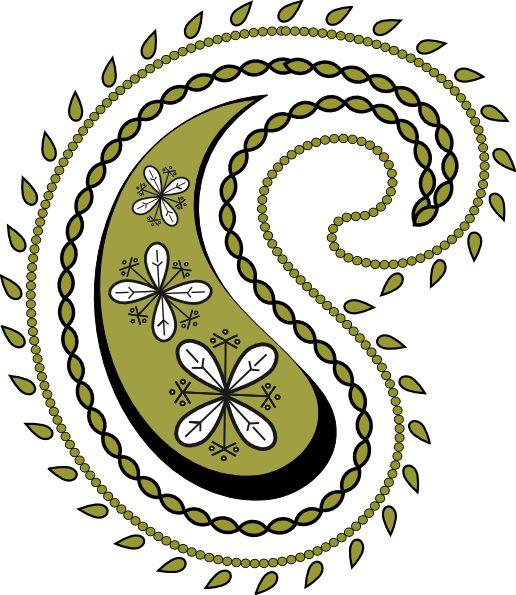 Paisley Design Clipart