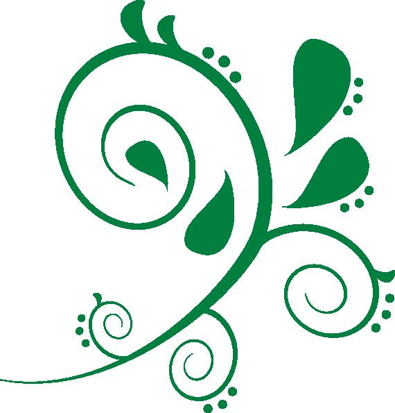 570x595 Fashionable Inspiration Green Swirls Clipart Swirl Clip Art