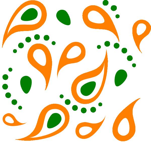 600x564 Paisley Pattern Clip Art