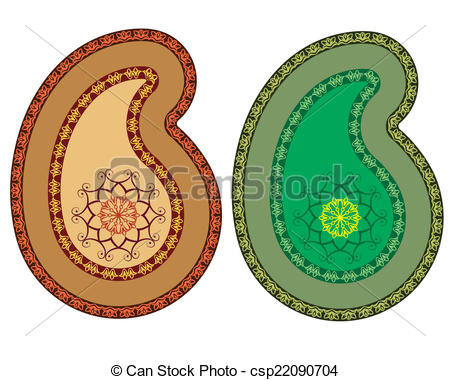450x380 Paisley Design (Can Be Used For Textile, Batik Print) Vector