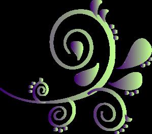 299x264 Purple To Green Paisley Clip Art