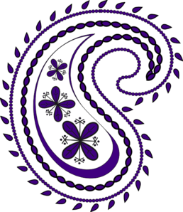 258x298 Black And White Paisley Clipart
