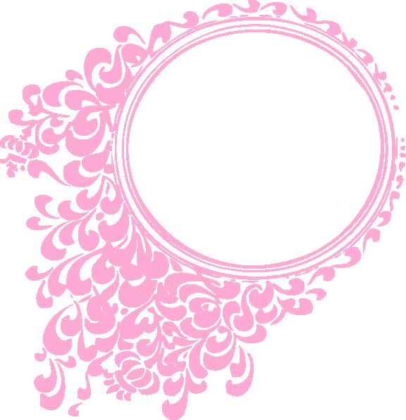 576x597 Pink Oval Frame Hi.png Christineoils