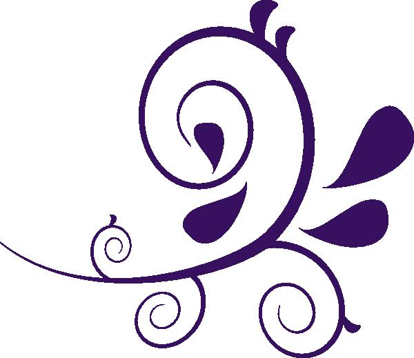 600x519 Flower Swirl Clip Art Purple Swirl Without Dots Clip Art