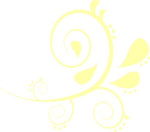299x264 Paisley Curves Yellow Clip Art