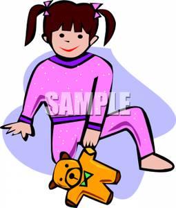 255x300 Little Girl Wearing Pink Pajamas