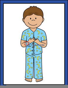 232x300 Putting On Pajamas Clipart Free Images
