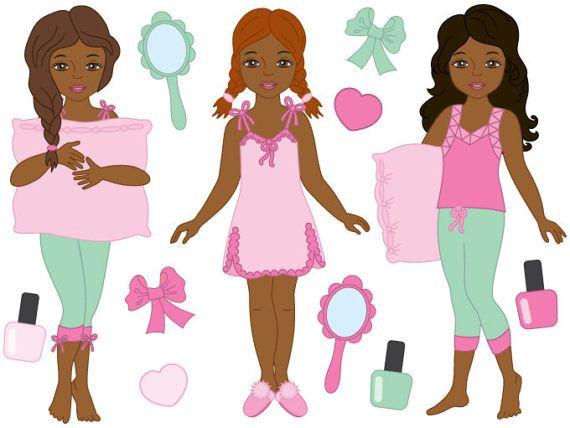 570x428 Pyjama Girl Clipart