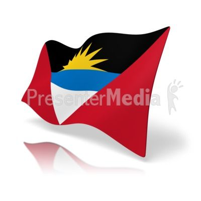 400x400 This Clip Art Image Shows The Antigua And Barbuda Flag
