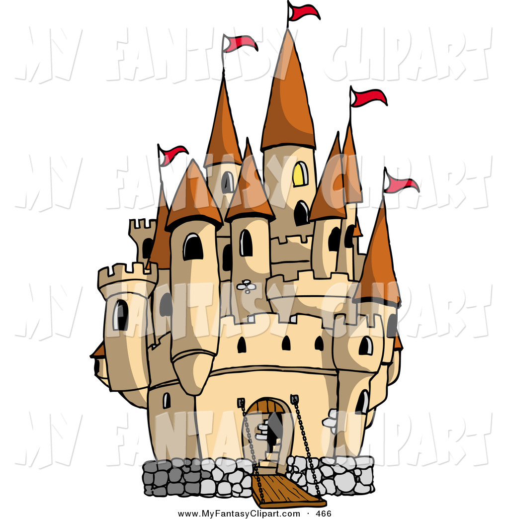 1024x1044 Clip Art Of A Large Medieval Castle With The Gate Down
