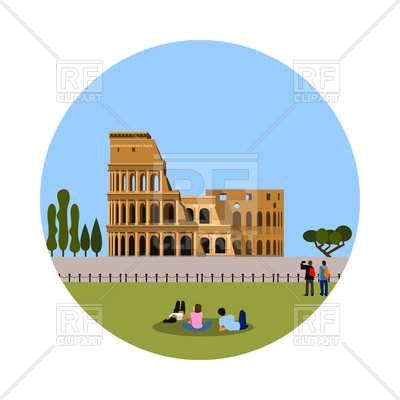 400x400 Colosseum Icon Royalty Free Vector Clip Art Image