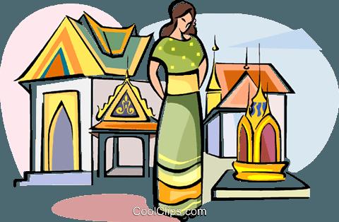 480x314 Grand Palace In Bangkok Thailand Royalty Free Vector Clip Art