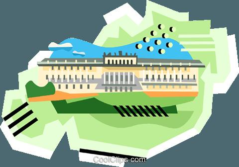 480x336 Palace Vienna Royalty Free Vector Clip Art