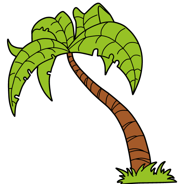 600x600 Palm Tree Silhouettes Vector Free 123freevectors