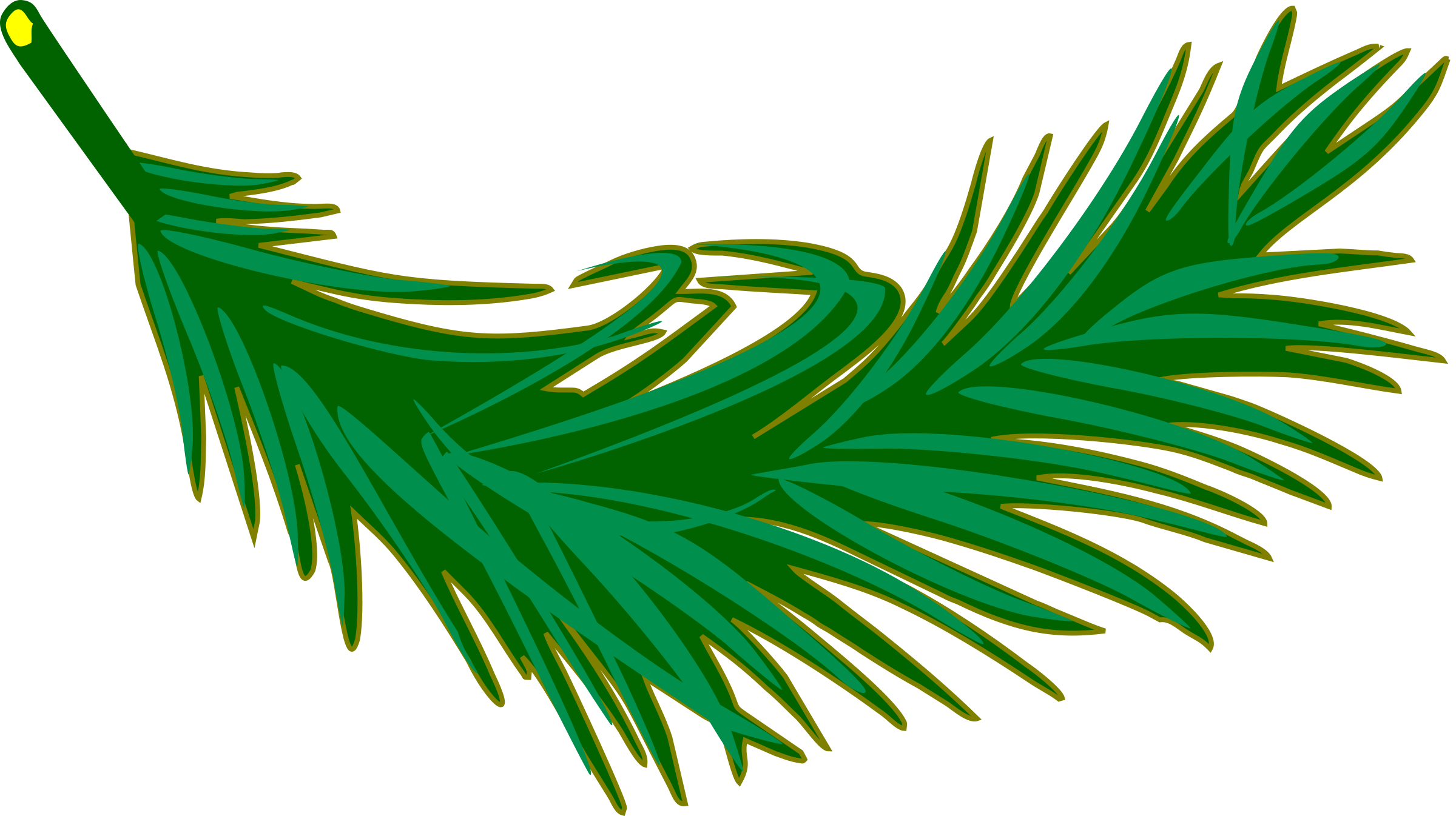 2400x1346 Palm Frond Icons Png