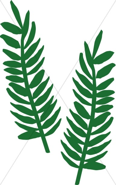 385x612 Two Palm Fronds Palm Sunday Clipart