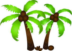 300x213 Clip Art Of Palm Tree Picture