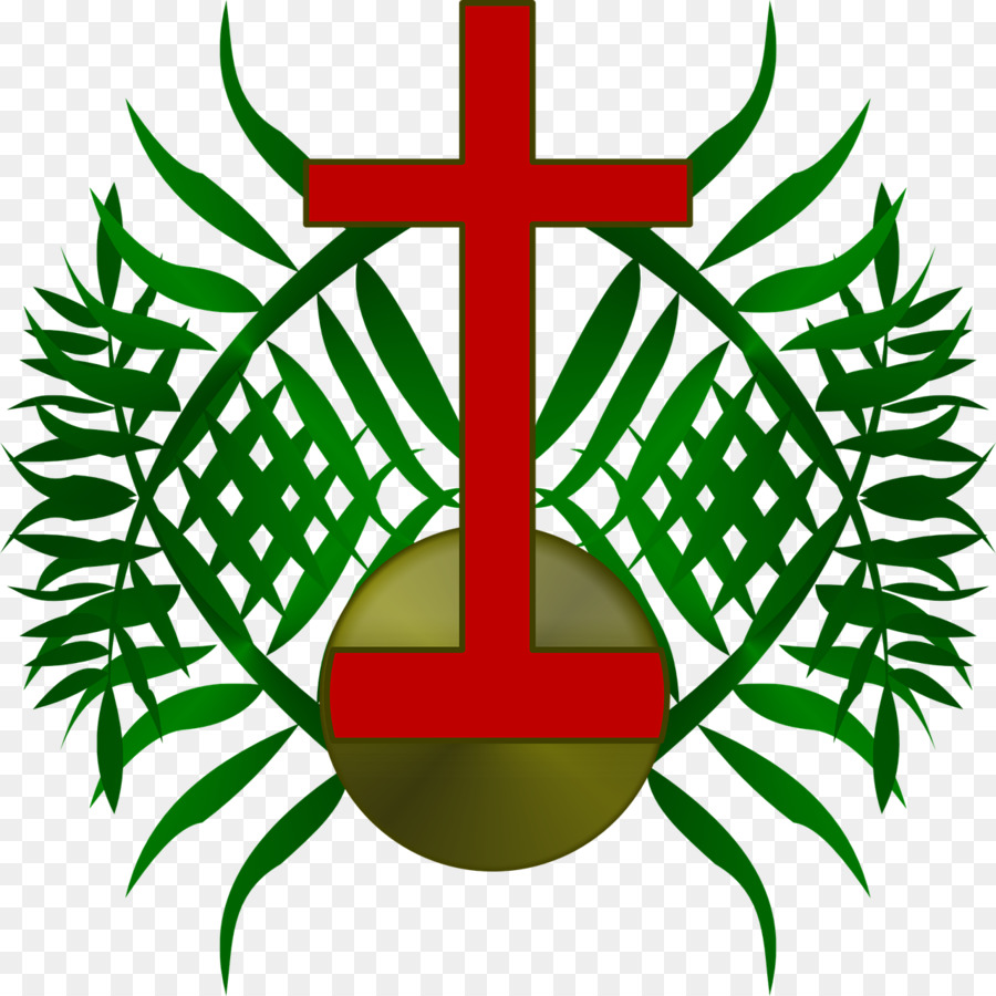 900x900 Palm Sunday Wish Holy Week Greeting Illustration