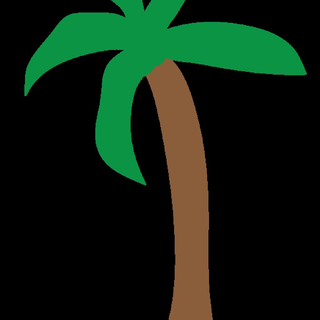 1024x1024 Palm Tree Clip Art Free Flower Clipart