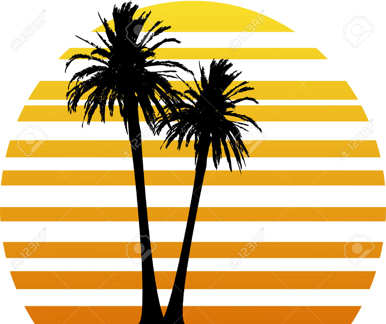 1300x1090 Palm Tree Sunset Clipart 0071 0803 2514 4326 Palm Trees On