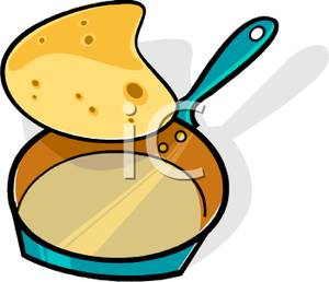 300x258 A Pancake Being Flipped From The Pan Clipart Picture