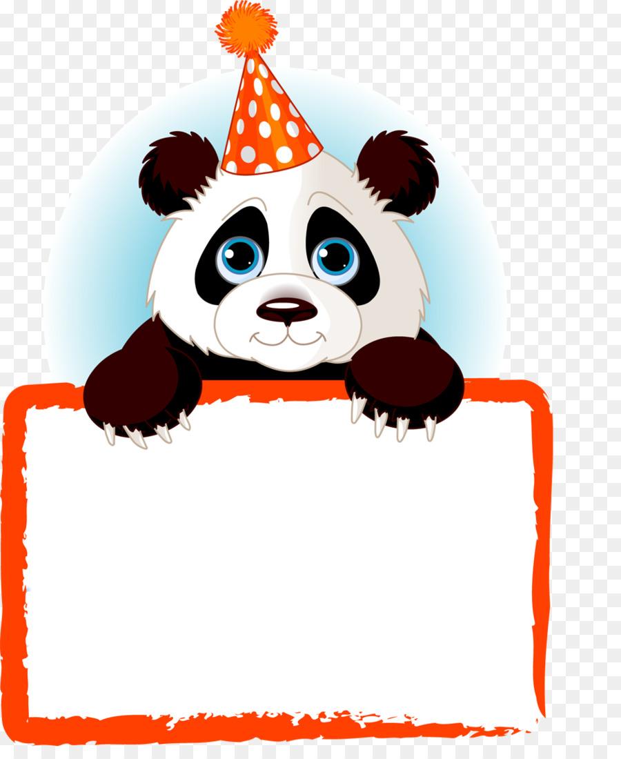 900x1100 Giant Panda Bear Name Tag Paper Clip Art
