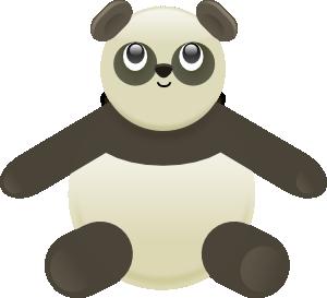 300x273 Panda Stuffed Bear Clip Art
