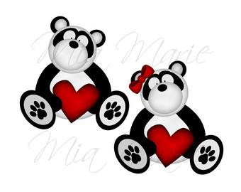 340x270 Panda Bear Clipart Etsy