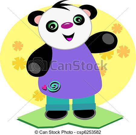 450x448 Smiling Baby Panda Bear This Panda Is Wearing A Cute Vector
