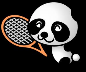 299x252 Tennis Panda Clip Art