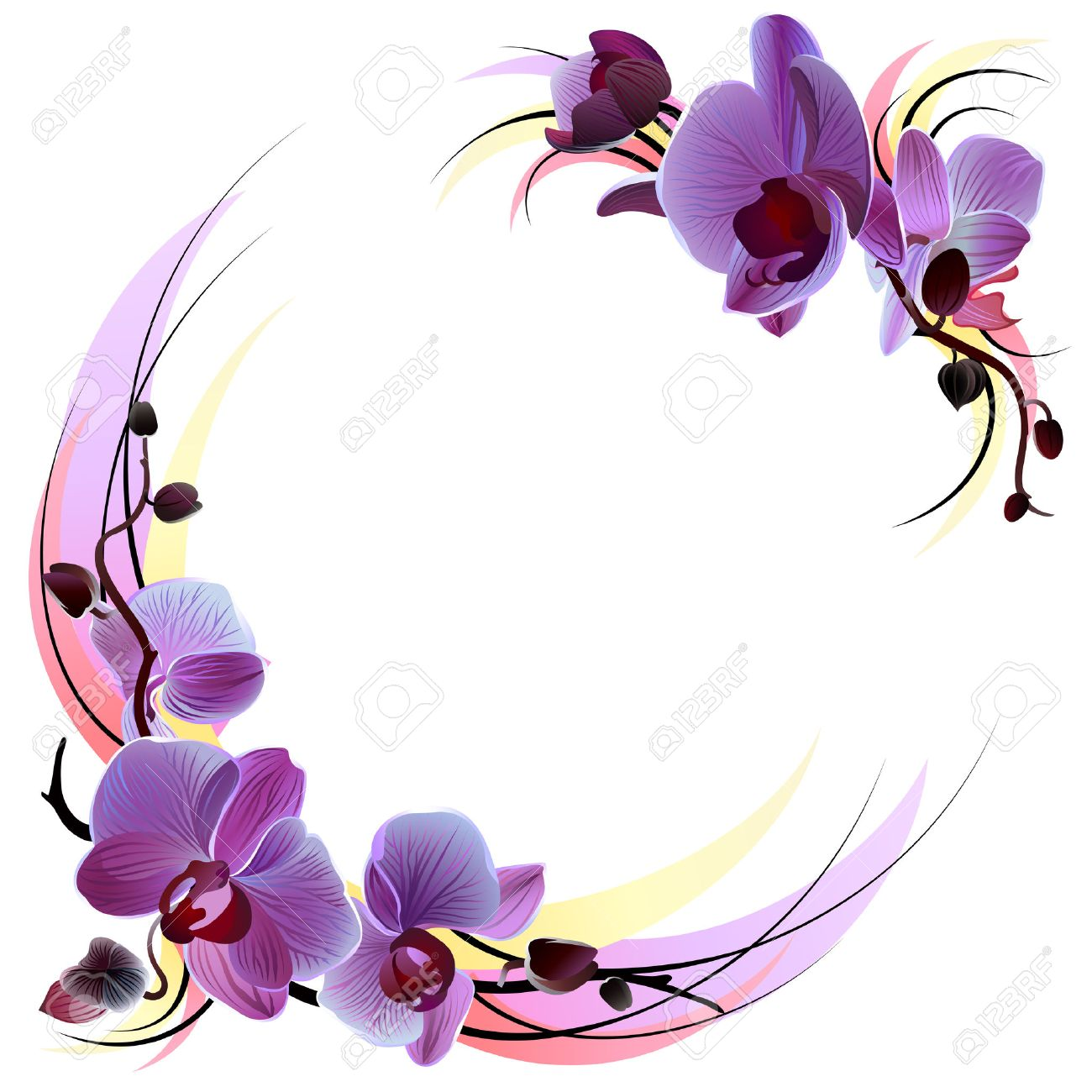1300x1300 Impressive Idea Violet Clipart Purple And Yellow Pansy Flower Free
