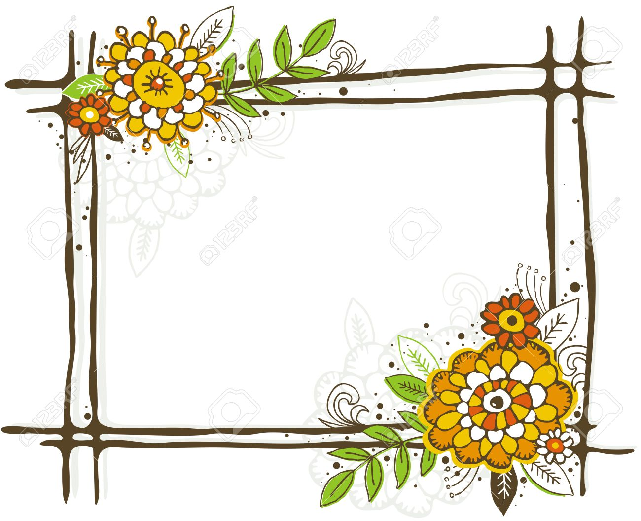 1300x1056 Flower Frames And Borders Clip Art Clipart