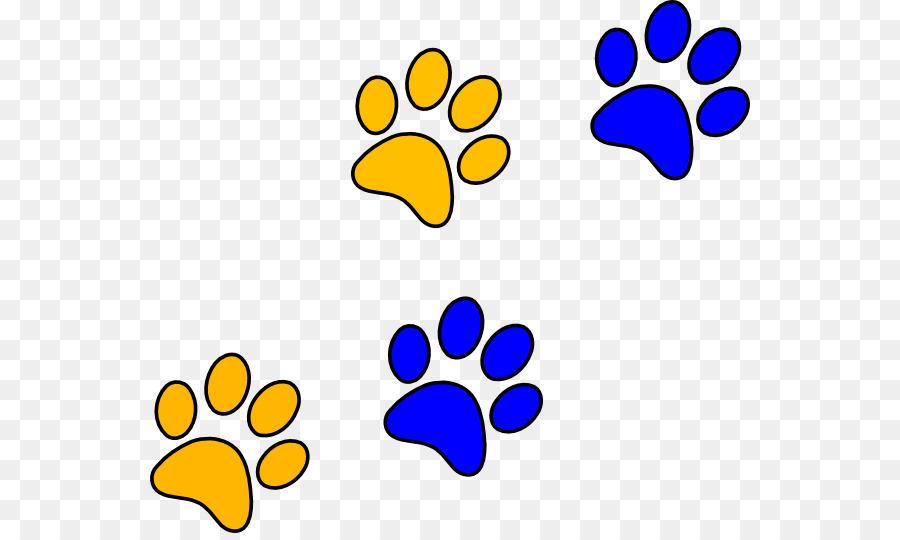 900x540 Bulldog Paw Blue Clip Art