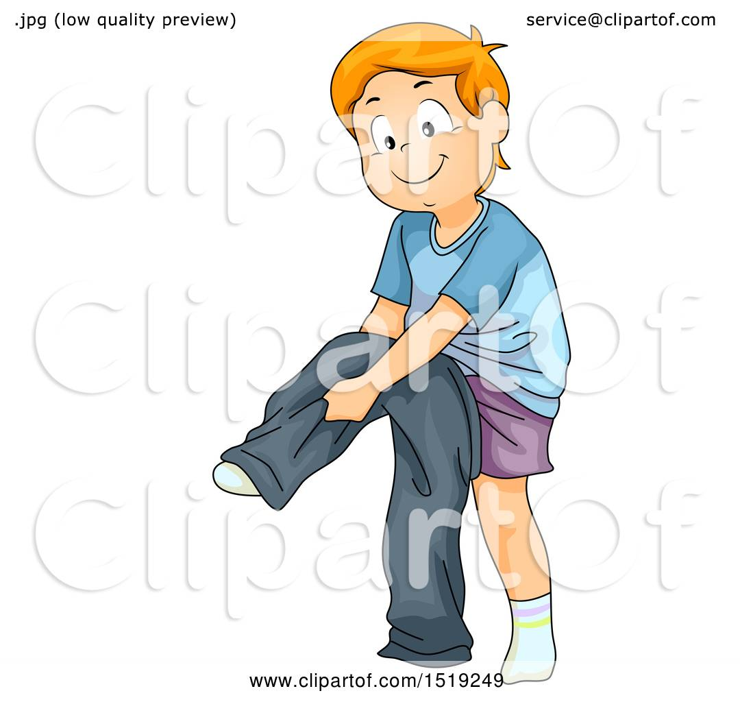 1080x1024 Clipart Of A Boy Dressing And Putting On Pants