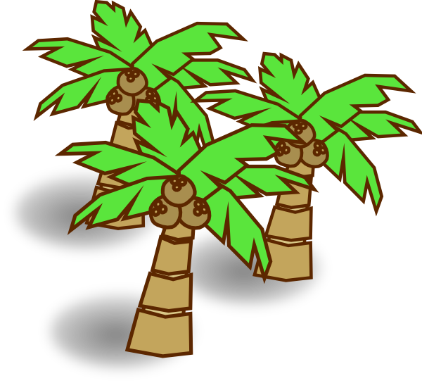 600x544 Coconut Tree Clipart Free Download Clip Art On 6