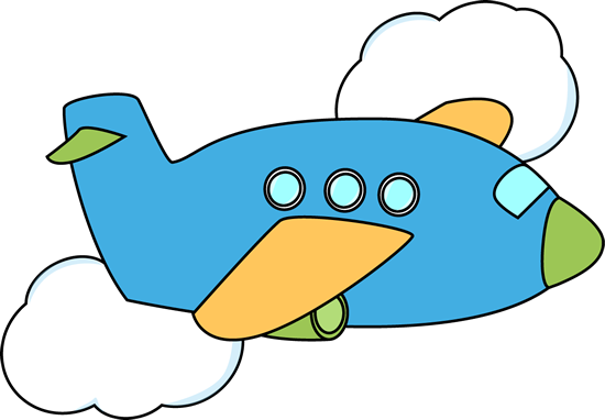 550x382 Cute Airplane Airplane Flying Through Clouds Clip Art Image