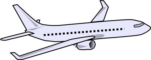483x194 Jet Plane Clipart