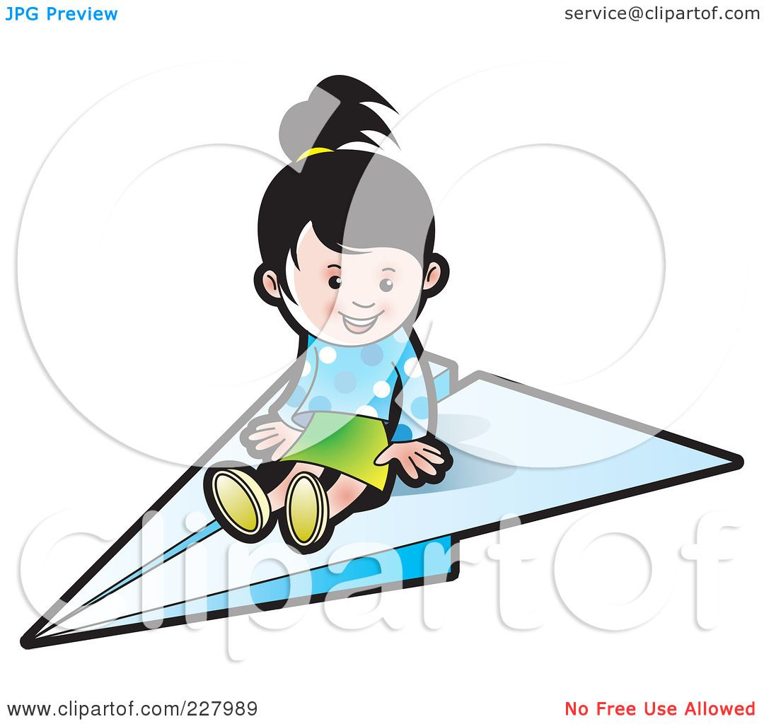 1080x1024 Royalty Free (Rf) Clipart Illustration Of A Cute Girl On A Paper