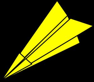 299x261 Yellow Paperplane Clip Art
