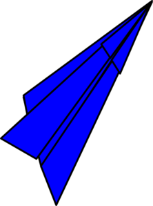 222x298 Blue Paper Plane Clip Art Clipart Panda